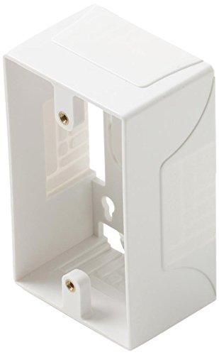 Steren White Single Gang Surface Mount Junction Box