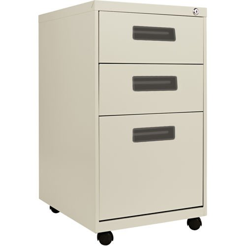 Alera 3-Drawer Mobile Pedestal File Putty primary