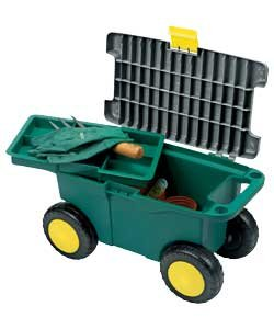 Garden Tool Storage & Weeding Trolley-Great Gardening Gift!