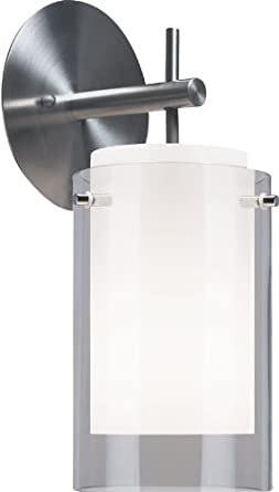 Echo 1 Light Wall Sconce Shade Color: Smoke, Bulb Type: Incandescent