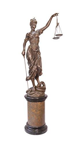 Bronzefigur Skulptur Motiv: Justitia