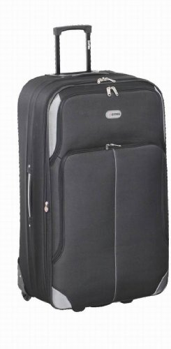 bagages 5 villes moyen au noir 26 l ger valise extensible chariot bagages poids 3 12 kg. Black Bedroom Furniture Sets. Home Design Ideas