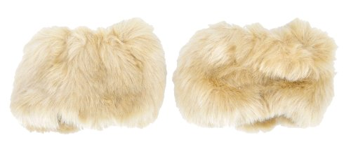 Simplicity Women's One Pair Faux Fur Short Wrist Band Ring Cuff Warmer