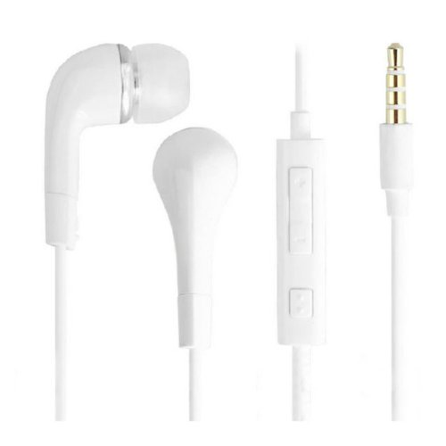 White Stereo Headset Earphone Earbud Microphone For Samsung Galaxy S4 S3 S2 Note