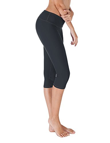 Yoga Reflex - Women's Yoga Capris Pants - Active Capri Leggings With Hidden Pocket (XS-2XL) , Navy , X-Small