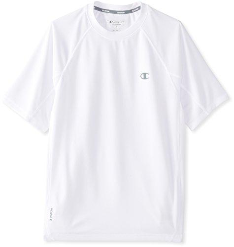 Champion Men's Powertrain Performance T-Shirt, White, Medium