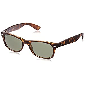 Ray-Ban RB2132 902 Tortoise Brown/Crystal Green Size 52 New Wayfarer Sunglasses