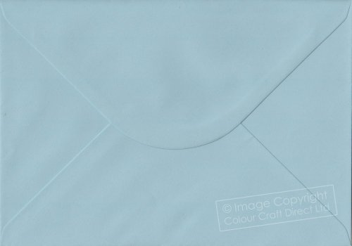 Premier Envelopes Pastel Baby Blue C6 - 114 Mm X 162 Mm 100Gsm Gummed Envelope (Pack Of 50)