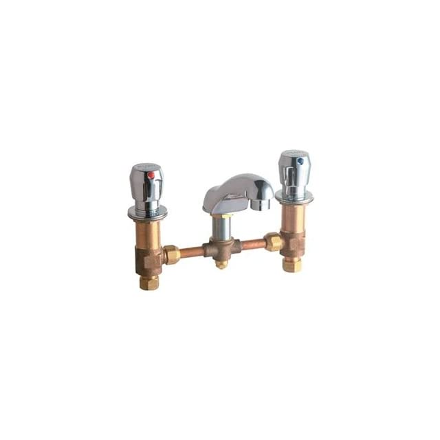 Chicago Faucets 404 V665ABCP Concealed Hot and Cold Water Metering Sink Faucet Lead Free