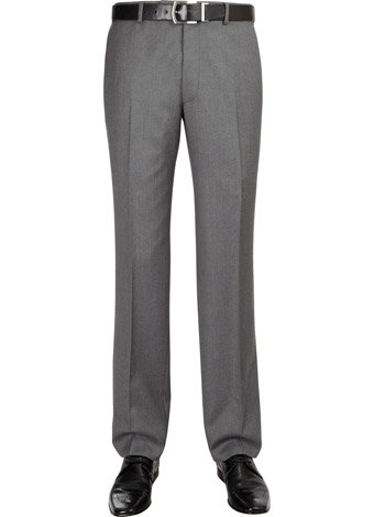 Austin Reed Contemporary Fit Grey Soft Wool Trousers SHORT MENS 32