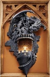 Sculptural Wall Sconce (The Dragons Castle)