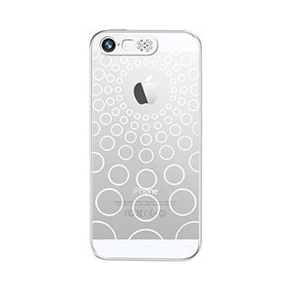 Vand Clear Flashing Case For Iphone 5S/5 - Retail Packaging - White Circle