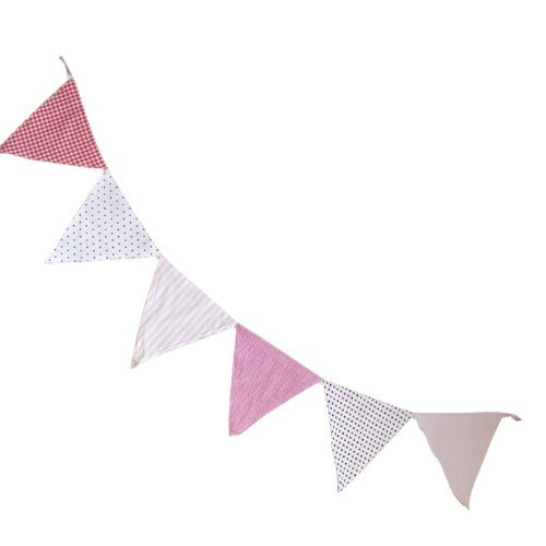 bunting-pink-3m-double-sided-100-cotton-powell-craft