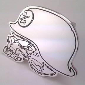 Learn More About Trailer Hitch Cover Tow Plug Metal Mulisha Skull FMX Deegan Custom CNC Machined Alu...
