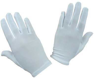 N'ice Caps Girls Stretch White Special Occasion Parade Gloves (4-7yrs)