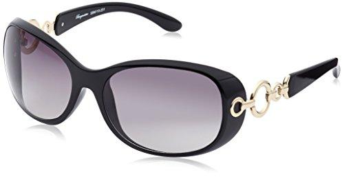 Burgmeister Damen SBM110-231 Madrid Groß Sonnenbrille, Black - Schwarz (Madrid)