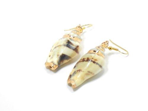 14kt Gold Earrings with Natural Conch Shells