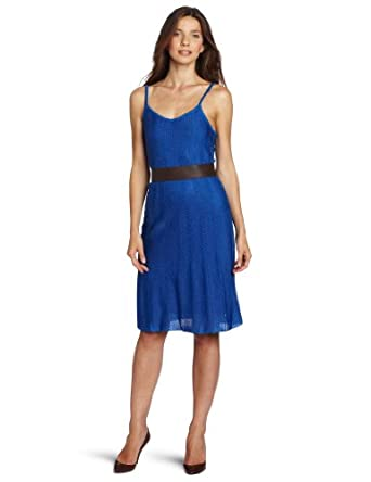 Anne Klein Women's Petite Maxi Sweater Dress, Blue, Large