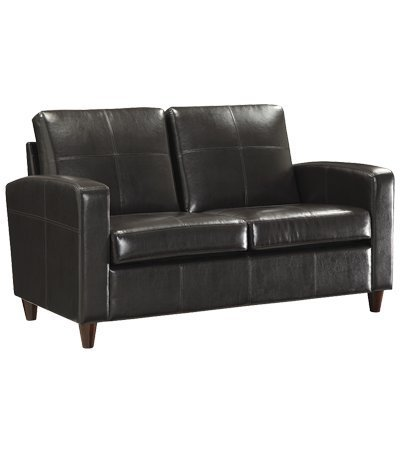 Office Star Espresso Eco Leather Loveseat