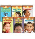 The Human Body Science Vocabulary Readers 6-Book Set: The Amazing Human Body, Your Brain, Your Eyes and Ears, Your Heart, Your Mouth and Nose, and Your Skin and Bones by Lydia Carlin (Skin And Bones Set)