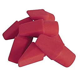 Smooth Eraser Caps, Red,1 Pack Of 12