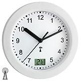 TFA Funk - Badezimmeruhr Wanduhr Kunststoff mit Temperatur- und Sekundenanzeige
