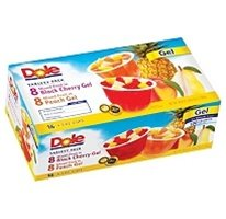 Dole Mixed Fruit in Gel Variety Pack 100 Calories Per Cup 16 4 3oz