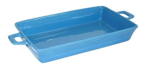 gilalole crealys 512334 plat rectangulaire en gr s avec anses bleu 33 x 20 cm. Black Bedroom Furniture Sets. Home Design Ideas