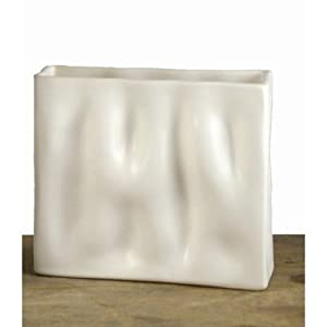 Mini Rectangle Ripple Vase Glaze Color: Green