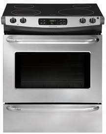 "Frigidaire FFES3025PS 30"" Stainless Steel Electric Slide-In Smoothtop Range"