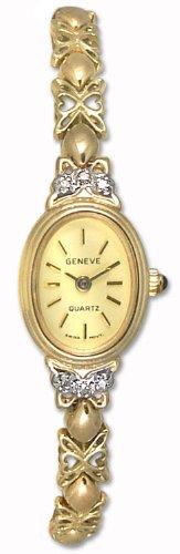 Geneve Mini 14k Solid Gold Diamond Womens Watch W080815