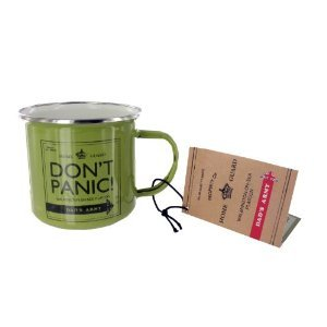 Official Dad's Army 'Dont Panic!' Enamel Mug