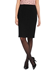 M&S Collection Bouclé Pencil Skirt with Wool
