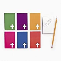 Fun Express Religious Notepads with A Cross (2 Dozen)