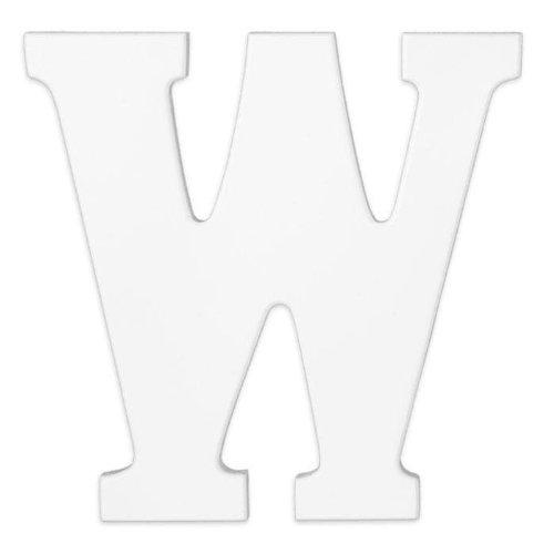 KidKraft - Wooden Letter W, White - 1