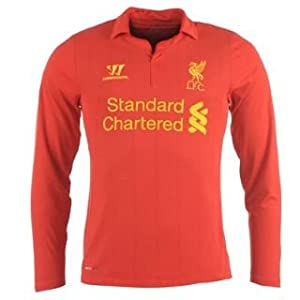 Warrior Liverpool Home Shirt 2012 2013 Long Sleeve Red 10-11 (LB)