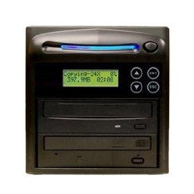 Produplicator 2DVDS20X250G 1-2 Burners CD DVD Duplicator - Standalone Disc Duplication Copier - Multiple Target Burner Copy Tower