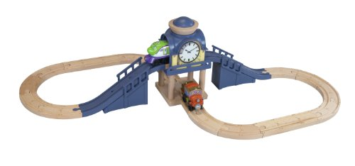 Chuggington Wooden Railway Koko & Hodge'S Clock Tower Set back-1057372