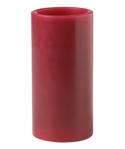 Mark Feldstein & Associates B6PAT 6-Inch Flameless Candle Pillar with Timer and Gift Box, Red Apple