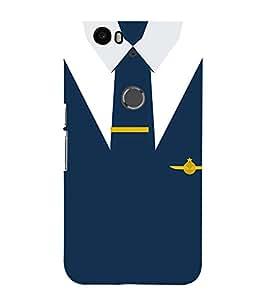 Air force Naval Officer Dress Cute Fashion 3D Hard Polycarbonate Designer Back Case Cover for Huawei Nexus 6P :: Huawei Google Nexus 6P