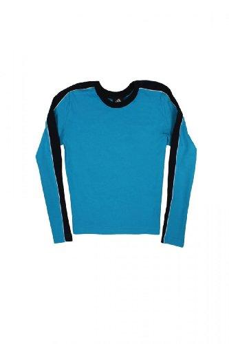 Adidas Maglietta a Manica Lunga CYBERNETIC TOP, bambina, Colore: Blu, : 164