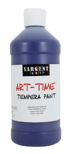 Sargent Art 22-6450 16-Ounce Art Time Tempera, Blue