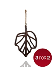 Wooden Leaf Christmas Tree Decoration