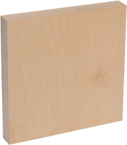 American Easel 10 Inch by 10 Inch by 1 5/8 Inch Deep Cradled Painting Panel