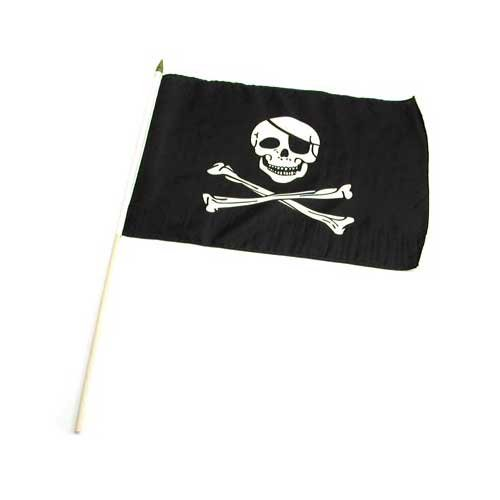 Buy Pirate – Jolly Roger – Flag 12×18 inch Stick Flag
