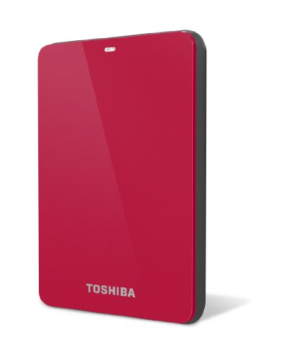Toshiba Canvio 1.0 TB USB 3.0 Portable Hard Drive - HDTC610XR3B1 (Red)