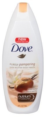 Dove Purely Pampering Body Wash, Shea Butter with Warm Vanilla, 24 ounces
