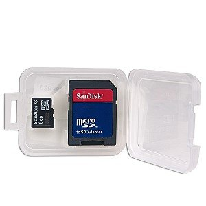 SanDisk microSDHC 8GB Class 2 Card with SD Adapter (SDSDQ-8192)