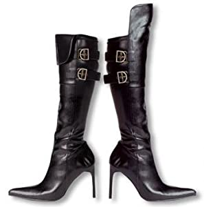 High-Heels-Stiefel: Piratenbraut Stiefel Gr. 39