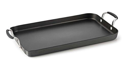 Calphalon Hard-Anodized Aluminum Nonstick Double Griddle Cookware, Small, Black